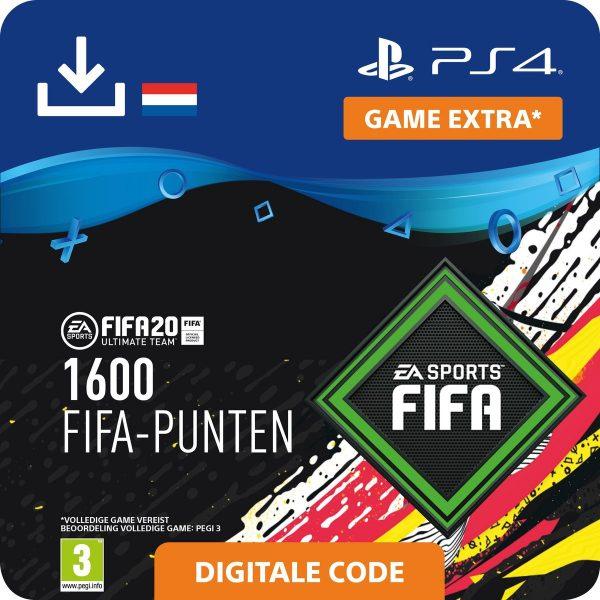 FIFA 20: Ultimate Team (FUT) - 1600 Points - PS4 download - Niet beschikbaar in BE