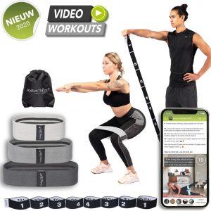 Positive Things - Resistance Bands set van 4 - Full body fitness elastieken
