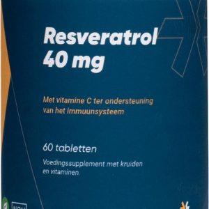 Fittergy Supplements - Resveratrol 40 mg - 60 tabletten - Kruiden - voedingssupplement