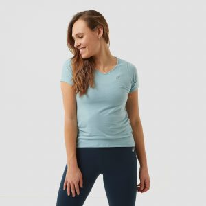 Asics Asics v-neck hardloopshirt blauw dames dames