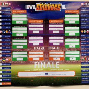 EK voetbal schema sticker - stickers - EK 2021 - voetbal Poule
