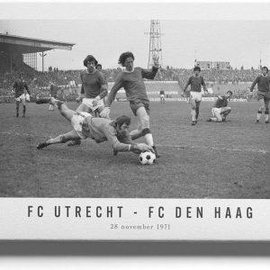 FC Utrecht - FC Den Haag '71 - Walljar - Wanddecoratie - Schilderij - Canvas