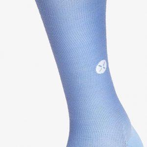 STOX Daily Merino Socks Vrouwen - Compressiekousen - Lichtblauw / wit W1 (schoenmaat 36-38)
