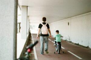 fiets met kind